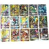 AIkong Cartes de Poche Monstre Soleil Lune Pokémon Anglais Cartes de Jeu Multicolore