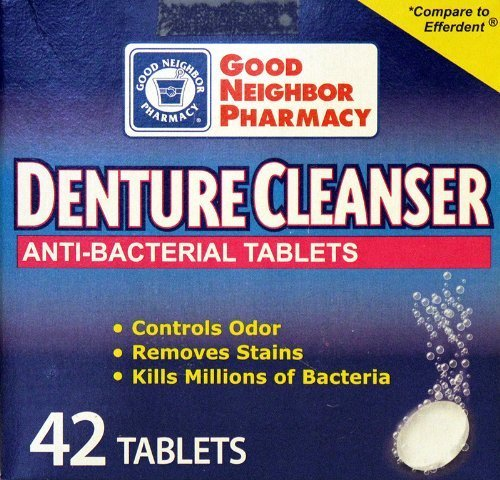 GNP Denture Cleanser Anti-bacterial Tablets (42 Tablets) by Good Neighbor Pharmacy (Neighbor Good Pharmacy)