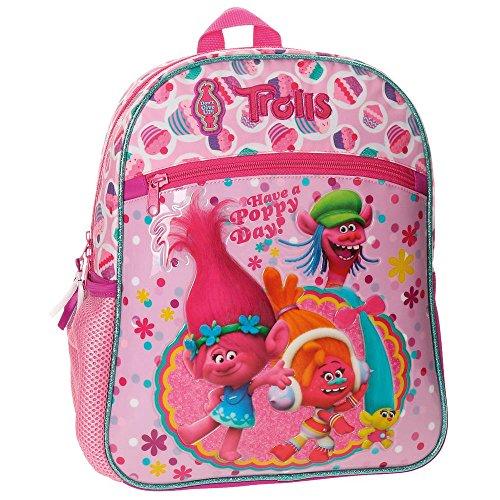 Imagen de trolls happy  infantil, 33 cm, 8.91 litros, rosa