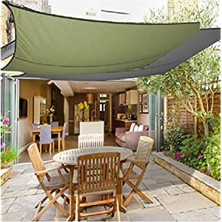 Garden Sun Shade Sail Canopy, 3 x 3m Square Waterproof Anti-UV Canopy Awning Sunscreen Perfect for Outdoor Patio Party Garden Swimming Pool
