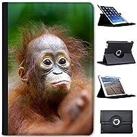 Fancy A Snuggle Cute Baby Orang-utan Animal Faux Leather Case Cover/Folio for the Apple iPad Mini, iPad Mini 2, iPad Mini 3