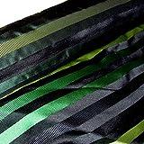 HH-NN-1968 5cm Stoffprobe Seidenstoff Jacquard Streifen grün schwarz Meterware ca. 67cm breit (Kurzballen)