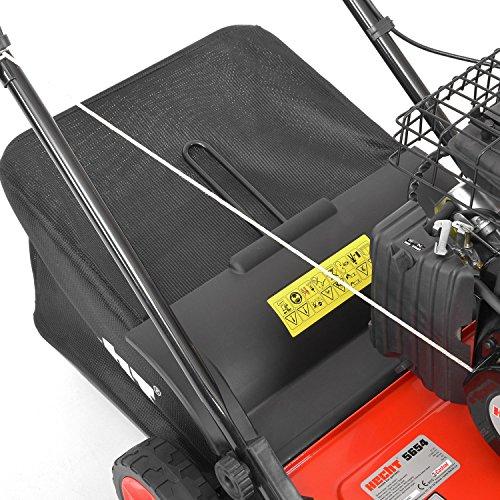 HECHT Benzin-Vertikutierer 5654 Rasen-Lüfter Motorvertikutierer (3,5 PS, 38 cm Arbeitsbreite, 6-fache zentrale Höhenverstellung, 40 Liter Fangkorb) -
