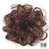 Wanglai Wig-women réglable Messy Cheveux ondulés, DE extension Postiche Chouchou élastique Bandeaux, Donut Cheveux Chignon Cheveux