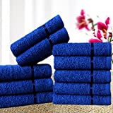 #9: Story@Home Sensational Solid 10 Piece 450 GSM Cotton Face Towel Set - Navy Blue