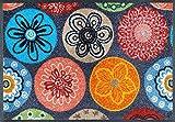 wash+dry Coralis Fußmatte, Acryl, bunt, 40x60x0.7 cm