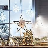 3er LED Schneeflocke Fensterdeko Timer Weihnachtsdeko für 3er LED Schneeflocke Fensterdeko Timer Weihnachtsdeko