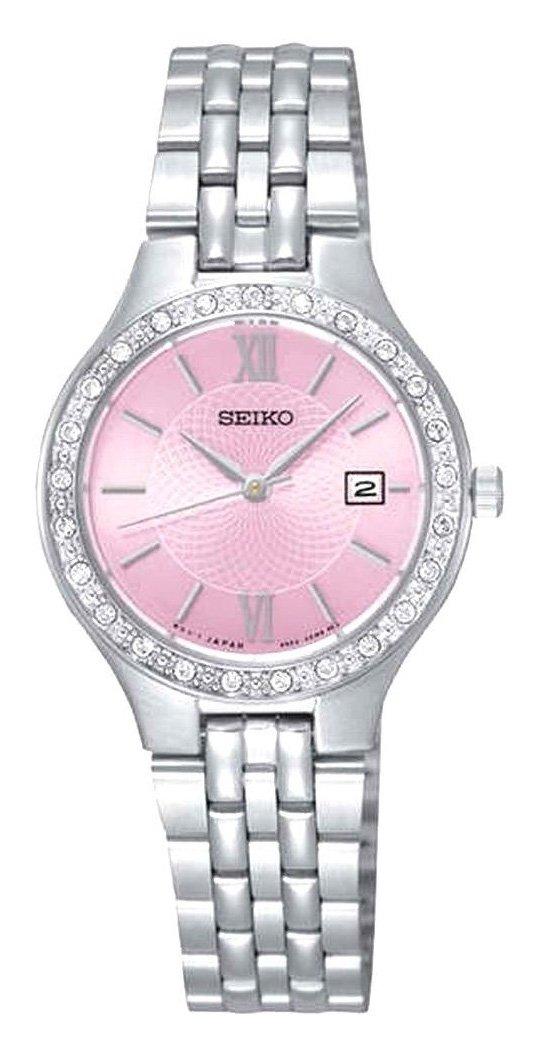 Seiko Reloj Analogico para Mujer de Cuarzo con Correa en Acero Inoxidable SUR765P9