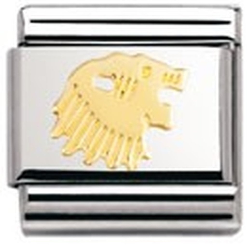 Nomination Composable Classic Star Sign Leo Stainless Steel and 18K Gold