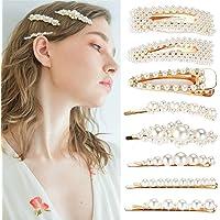 8pcs clip di capelli della perla per le ragazze delle donne, Simoda Fashion dolce perla artificiale Clip a coccodrillo…