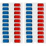 Rode En Blauwe Stereoglazen Papieren kartonnen 3D-bril Opvouwbare 3D-stereobril voor buitenmuziekfeest, bar, vuurwerk, leren