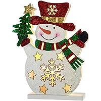 WeRChristmas Pre-Lit Snowman Christmas Decoration, 30 cm - Multi-Colour