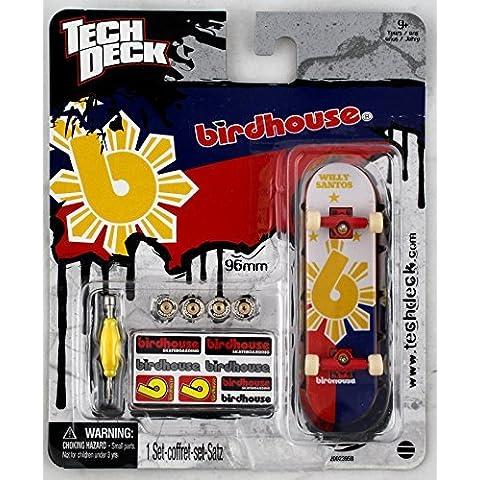 1 TECH DECK 96mm FINGERBOARD - BIRDHOUSE BOARD (Red/Blue/Yellow)- Retired - New by Birdhouse