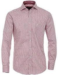 CASAMODA Messieurs Chemise à carreaux 100 % coton Coupe moderne