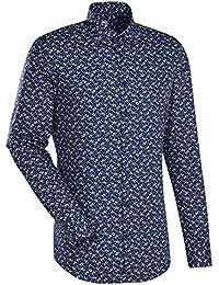 JACQUES BRITT Business Hemd Custom Fit Langarm Bügelleicht Businesshemd Hai-Kragen Manschette weitenverstellbar