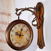 Diseño moderno LFNRR Reloj de pared Reloj de pared doble cara 3D Digital Saat Gran Vintage Relojes de pared Reloj Relogio de Parede digital-watch