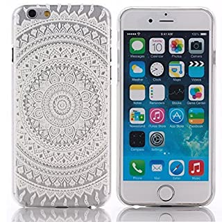Jinhoo(TM) Fashion Circle Mandala Plastic Floral Paisley Tribal Printed Pattern Flower Cover Case for Apple iPhone6 4.7Inches 6plus 5.5 Inches(for iphone6 4.7 by Jinhoo