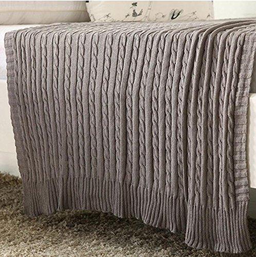 HDZLL Sofa-Teppich NAP Wolle Decken/Teppiche/Wandteppiche/Teppich/Klimaanlage/Baumwolle Decke stricken , gray -