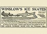Vintage Eislaufen Winslow Schlittschuhe sind die besten in der Welt. Amerika, 1897250gsm, Hochglanz, A3, vervielfältigtes Poster
