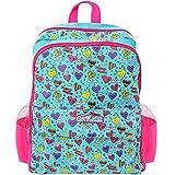 GirlZone GirlZone: Mädchen Kinder Rucksack 20L - 40cm x 30cm x 15cm Schultasche für Mädchen - Schulranzen - Freizeit Rucksack: wasserdicht - Geschenk für Mädchen - Blau