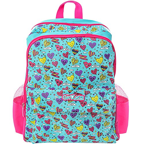 MOCHILA INFANTIL, REGALO PARA CHICAS: Bolso escolar para chicas y chicos para colegio o niñas y niños. Regalo para niñas de 4 5 6 7 8 9 10 años (Azul) Corazones