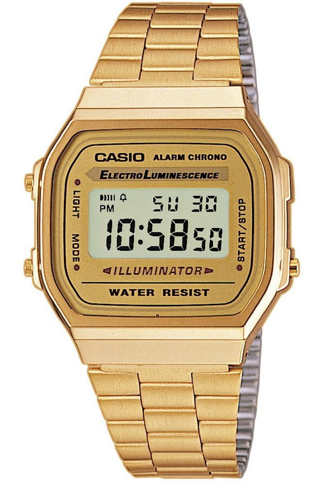 Casio Women's Watch in Resin/Stainless Steel – Digital Display Fold Over Clasp and Automatic Calendar with Date