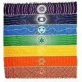 Bohemia único Rainbow 7Chakra toalla de tapiz Mandala Hippie Boho rayas yoga mat