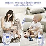DBPOWER digitales Babyphone mit Temperatursensor, Zwei-Weg und Gegensprechfunktion, 300m Reichweite um immer im Kontakt mit Babys zu bleiben - 6