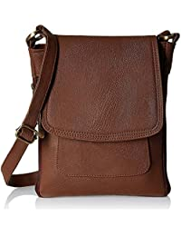 Style Loft Leather Dark Brown Sling Bag Cross Body For Love Birds(SL-036)