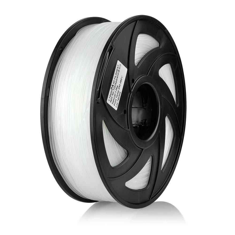S SIENOC 1,75 mm 3D Printer imprimeur Composite Nylon PA Filament 1KG Bobine de fil plastique Nylon Transparent