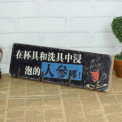 Personalità Creative lingua testo decorato ganci biancheria foto Bar & Cafe la decorazione parietale rivestire dragnets , Il Ginseng