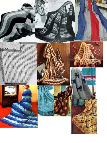 Vintage Knitting Afghan Patterns - 36 Homemade Knit Afghan Patterns - Baby Knit Afghan, French Poodles Afghan, Leaf Pattern Afghan and Many More (English Edition)