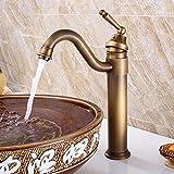SADASD Moderne Badezimmer Waschbecken Wasserhahn Kupfer Luxus 3-Loch Doppel Waschbecken Wasserhahn Warmes und Kaltes Wasser Keramik Ventil Mischbatterie mit G3/8 Edelstahl Schlauch