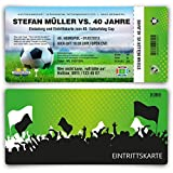 Einladungskarten zum Geburtstag (20 Stück) als Fussballticket Karte Ticket Fussball Einladung