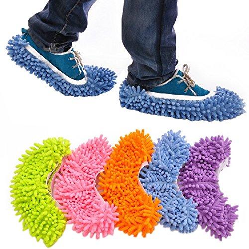 S Accmart Staub Mop Hausschuhe Schuhe Bodenreiniger reinigen Einfache Badezimmer B