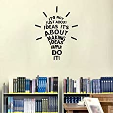 Rawpockets Decals 'Idea' Wall Sticker - (PVC Vinyl, 58 cm x 46 cm, Black)