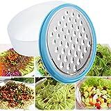 Bargain World Multifunción caja contenedora máquina de cortar queso rallador de verduras alimentos de acero inoxidable