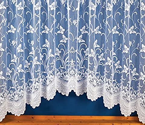 ShawsDirect Ready to Hang Jardiniere Meadow Lace Curtain (100