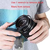 Neewer® Kit de Ridged Intérieur Caméra Lens Filtre Pince (Paire de Deux) – Convient à 62-77mm de Filetage de l'Objectif pour Canon, Nikon, Sony et autres Appareils Photo Reflex Numériques