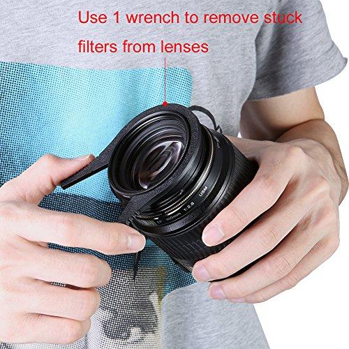 Neewer® Geriffelte Innen Kamera Objektiv Filter Schraubenschlüssel Kit (2 Paar ) - Passend für Objektiv 62-77mm Gewinde für Canon, Nikon, Sony und andere DSLR-Kameras