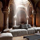murando - Fototapete Architektur 400x280 cm - Vlies Tapete - Moderne Wanddeko - Design Tapete - Wandtapete - Wand Dekoration - Tempel Säule d-B-0050-a-a