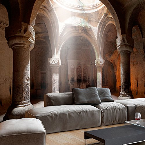 murando - Fototapete 400x280 cm - Vlies Tapete - Moderne Wanddeko - Design Tapete - Wandtapete - Wand Dekoration - Architektur Tempel Säule d-B-0050-a-a