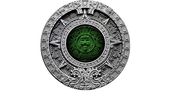 Münzen Azteken Kalender 2$ Silbermünze 2 Unzen Niue Island 2019 Gedenkmünzen
