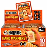Hothands® Hand Warmers are rectangular shaped single-use air-activated heat packs that provide up to 10 hours of continuous warmth for the hands.