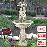 AMUR Fontana da Giardino Fontana Solare da Giardino Fontana a LED con Batteria a Litio e luci a LED Che Si Accendono al Crepuscolo (Fontana Solare Gli Innamorati)
