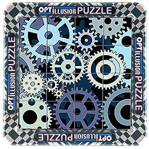 Cheatwell Games 3D Magna Puzzle 16 Piezas de Engranaje Optillusion