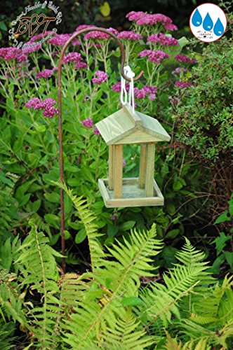 Bird Table, Bird House With 4x Feed Dispenser With Dispenser 1litre With Shepherd Rod, Weather Resistant, Moss Green, Moss Birdhouses And Bird Table, Bird House, Bird Nut Feeder–surface Stand + Roof Feeder Moss Green Lime Green Natural Wood/gree