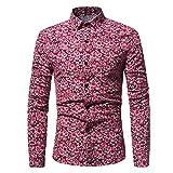 Herren Langarm SUNNSEAN Blume Drucken T-Shirt Lange Ärmel Männer Lässig Tops Mode Oberteil Baumwolle Gut Aussehend Klassiker Männliche Bluse Schlanke Shirt