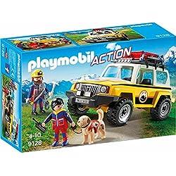Playmobil- Secouristes des Montagnes avec véhicule, 9128