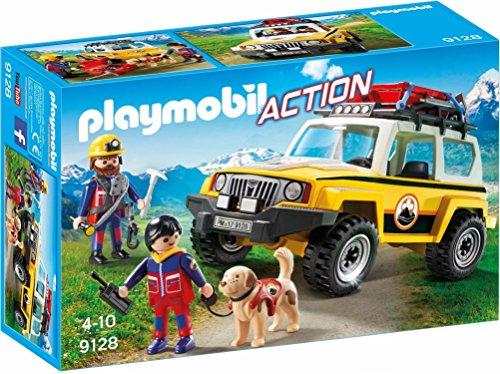 Playmobil-9128 Vehículo de Rescate de Montaña